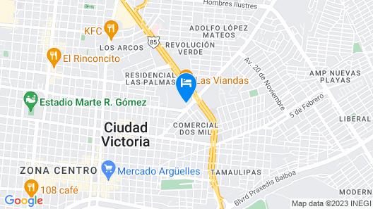 Hotel Brío Inn Map