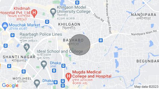 Highly Secured Apartment at Bashundhara R/A Near Gulshan Map