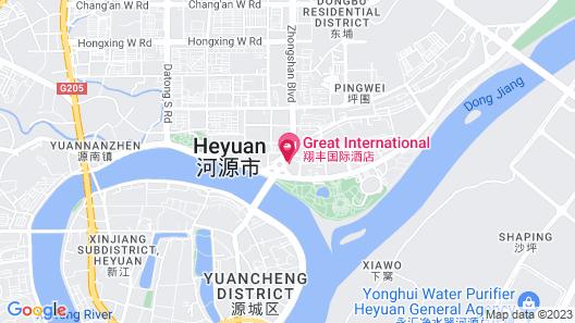 Great International Hotel - Heyuan Map