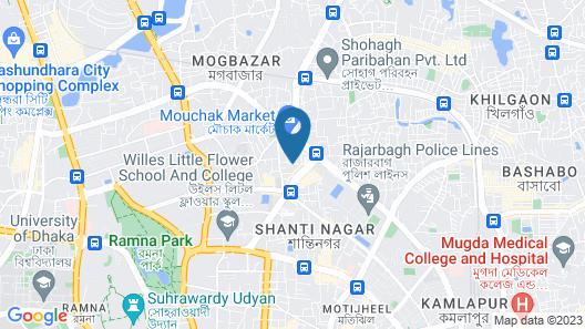Sky City Hotel Dhaka Map