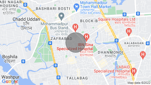 Shanto's Place Dhaka Map