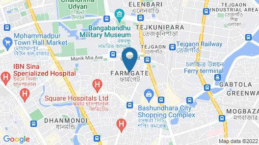 HOTEL GIVENCI INTERNATIONAL Map