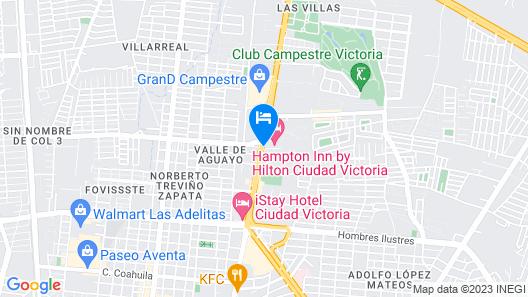 Hampton Inn by Hilton Ciudad Victoria Map
