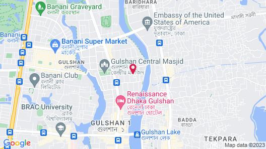 Long Beach Suites Dhaka Map