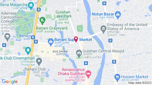 Four Points By Sheraton Dhaka, Gulshan Map