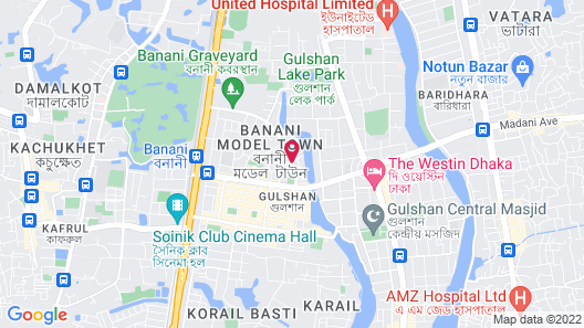 The Raintree Dhaka Map