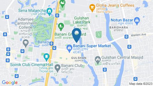 Hotel Dhaka Garden Inn Map