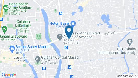 Blossom Hotel Dhaka Map
