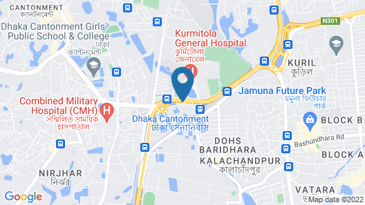 Radisson Blu Dhaka Water Garden Map