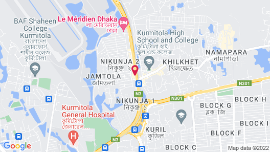Dhaka Regency Hotel & Resort Map