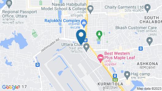 Air Inn Dhaka Map