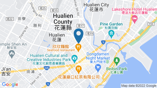 Byeyer Hotel Hualien Map