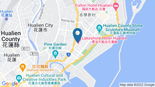 Lakeshore Hotel Hualien Map