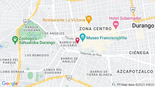 Posada de María Map