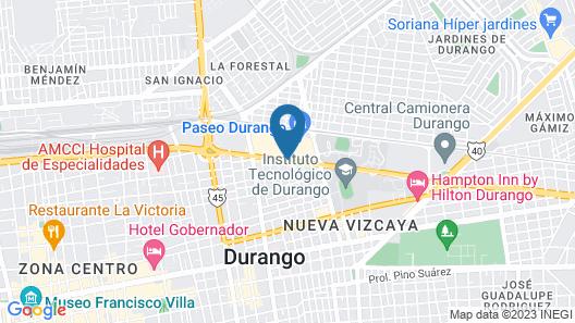 Fiesta Inn Durango Map