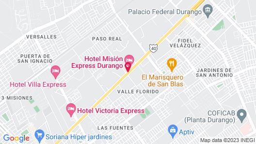 Mision Express Durango Map