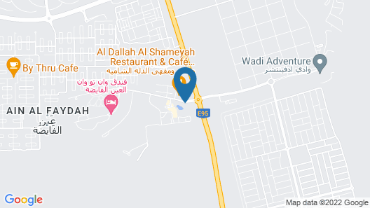 One to One Ain Al Fayda Resort Map