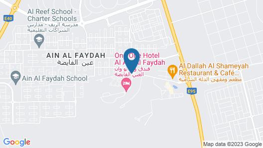 One To One Hotel and Resort, Ain Al Faida Map