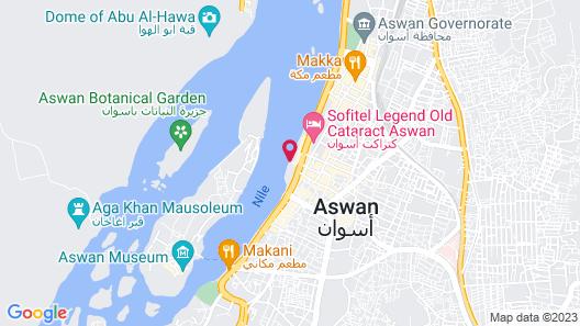 Obelisk Nile Hotel Aswan Map