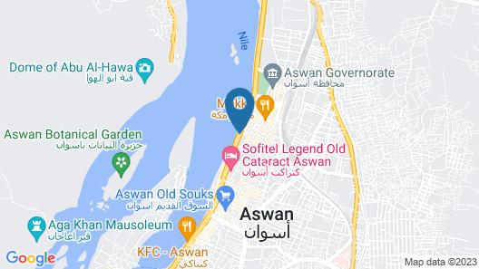 MS Sonesta St George Nile Cruise - Aswan Luxor 3 Nights Friday Map