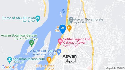 Marhaba Hotel Aswan Map