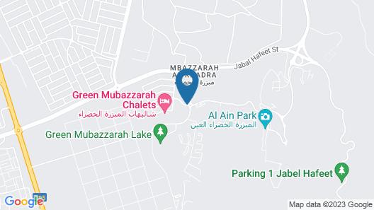 Green Mubazzarah Chalets Map