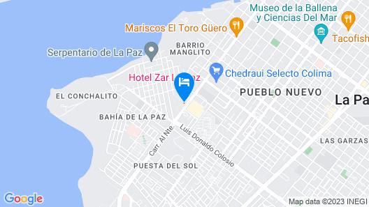 Hotel Zar La Paz Map