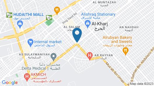 Marahel Kharj Aparthotel 3 Map
