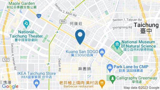 Tempus Hotel Taichung Map