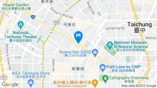 Evergreen Laurel Hotel Taichung Map