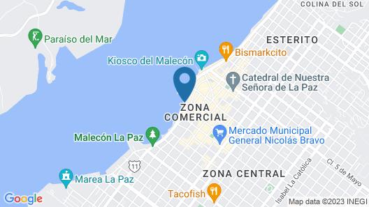 Seven Crown La Paz Malecon Map
