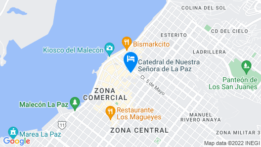 Hotel Catedral Map
