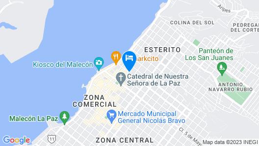 Seven Crown La Paz Centro Histórico Map