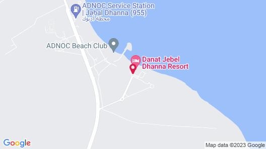 Danat Jebel Dhanna Resort Map