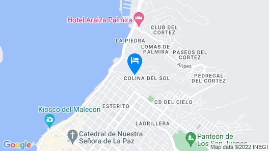 Super Hosts- Modern Condo Mins Away From Malecon, Relax by Pool During the day Map