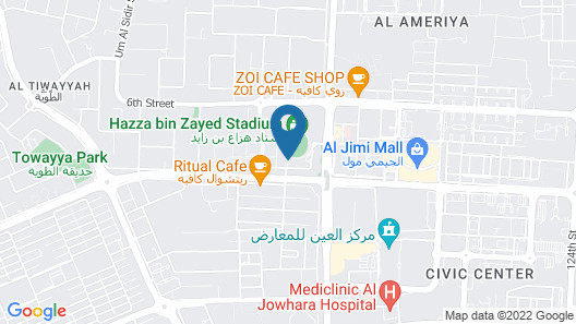 Aloft Al Ain Map