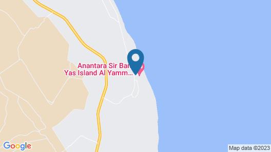 Anantara Sir Bani Yas Island Al Yamm Villa Resort Map