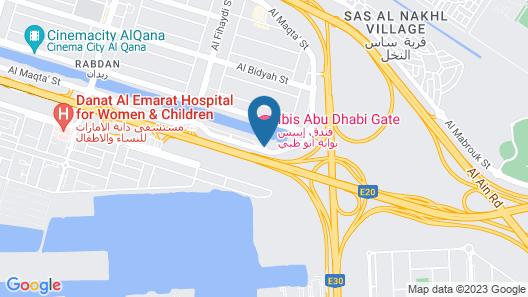 Novotel Abu Dhabi Gate Map