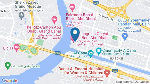 Shangri-la Hotel Qaryat Al Beri, Abu Dhabi Map