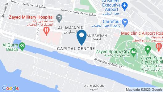 Capital Centre Arjaan by Rotana Map