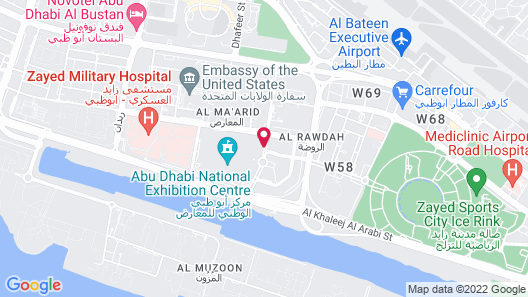 Aloft Abu Dhabi Map