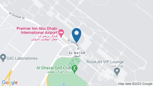 Aerotel Abu Dhabi T3 Departure Map