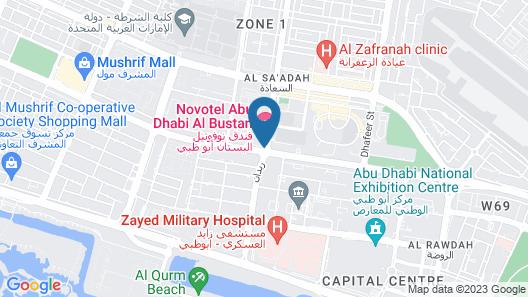 Novotel Abu Dhabi Al Bustan Map