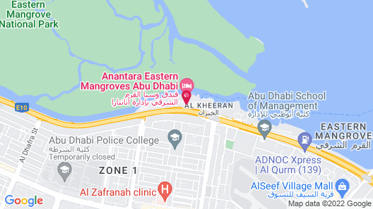 Anantara Eastern Mangroves Abu Dhabi Hotel Map