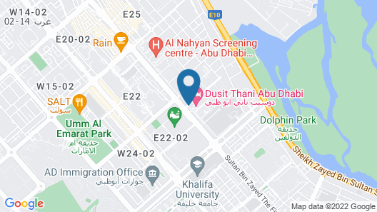 Dusit Thani Abu Dhabi Map