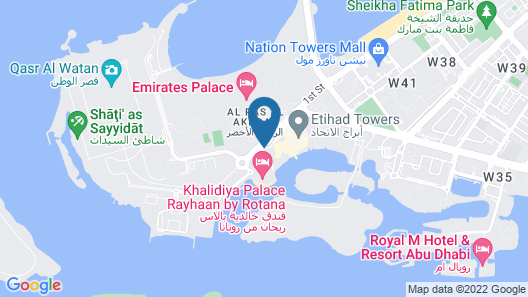 Khalidiya Palace Rayhaan by Rotana Map