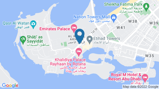 Emirates Palace, Abu Dhabi Map