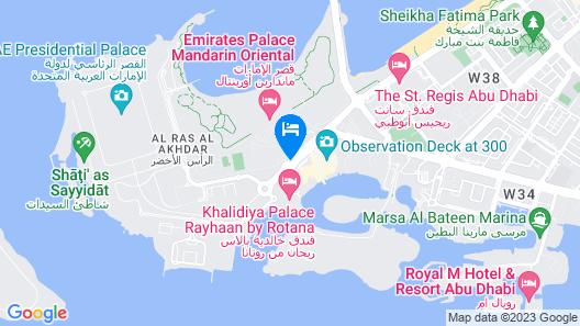 Emirates Palace, Abu Dhabi Map