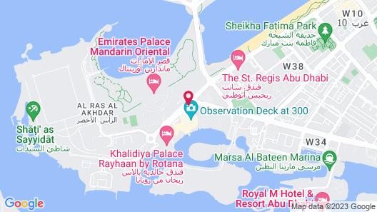 Conrad Abu Dhabi Etihad Towers Map
