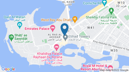 Conrad Abu Dhabi Etihad Towers Map